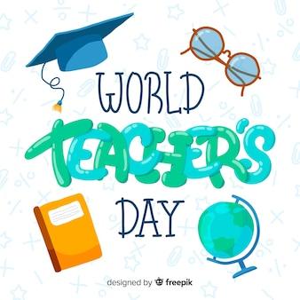 Dibujos animados del día mundial de los docentes