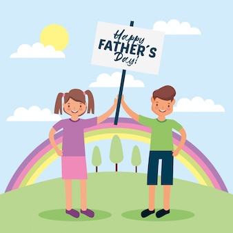 Dibujos animados del día del padre
