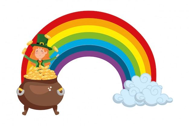 Dibujos animados del día de san patricio