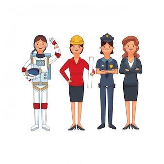 Dibujos animados del día del trabajo americano