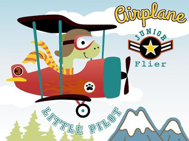 Dibujos animados de dino en avión