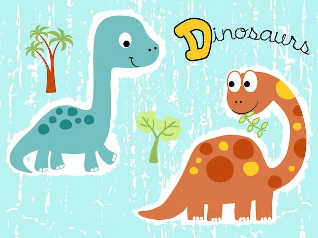 Dibujos animados de dinosaurios lindos