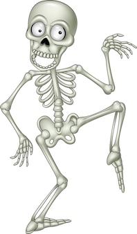Dibujos animados divertido esqueleto bailando