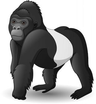 Dibujos animados divertido gorila