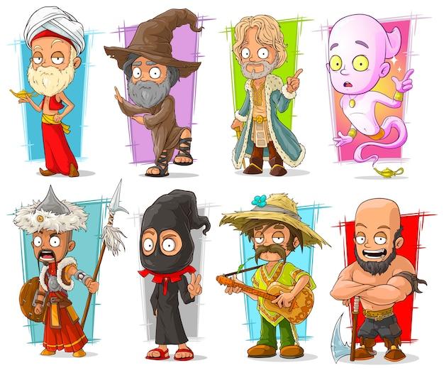Dibujos animados divertidos personajes diferentes divertidos