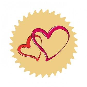Dibujos animados de dos corazones
