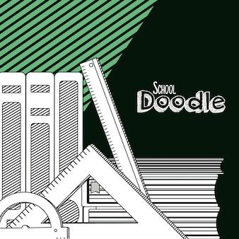 Dibujos animados de escuela doodle