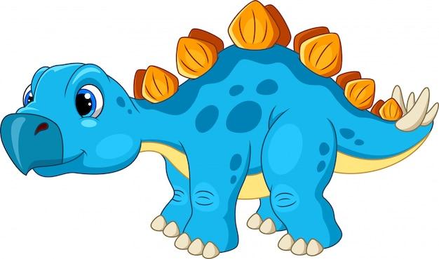Dibujos animados de estegosaurio feliz