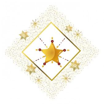 Dibujos animados de estrella de navidad