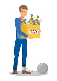 Dibujos animados de evasión fiscal ilegal
