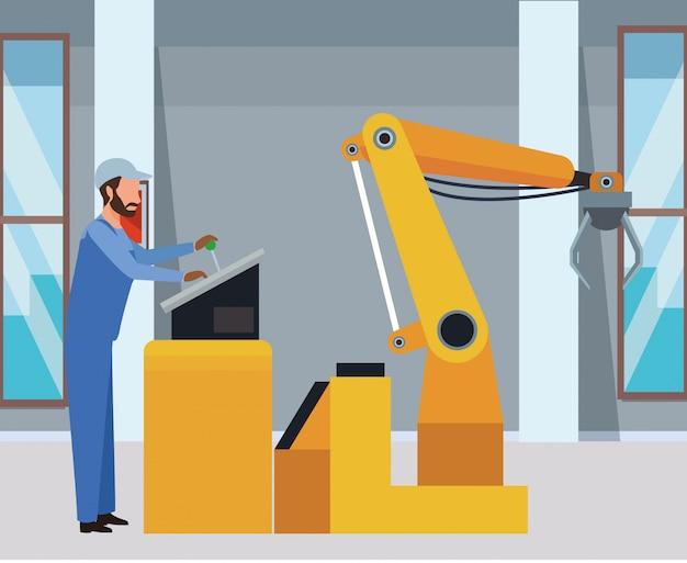 Dibujos animados de fábrica industrial