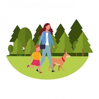 Dibujos animados familiares y niños