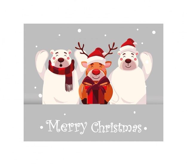Dibujos animados de feliz navidad