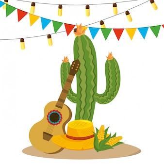 Dibujos animados de fiesta junina