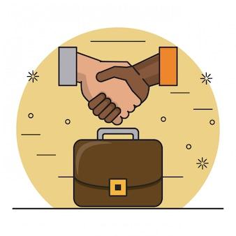 Dibujos animados de finanzas y comercio