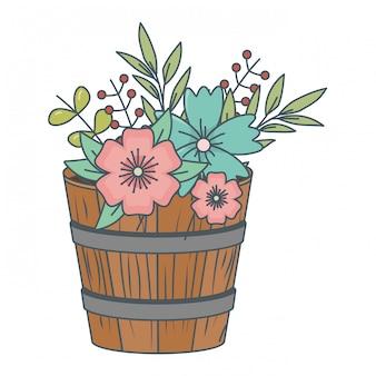Dibujos animados de flores de naturaleza floral