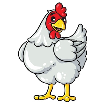 Dibujos animados de gallina blanca