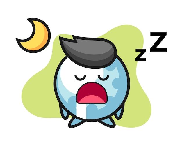 Dibujos animados de golf durmiendo en la noche