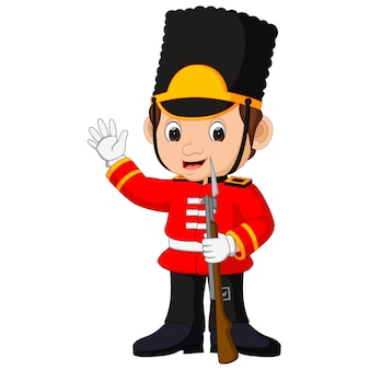 Dibujos animados de la guardia británica