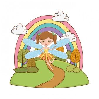 Dibujos animados de hadas de la ilustración de cuento de hadas
