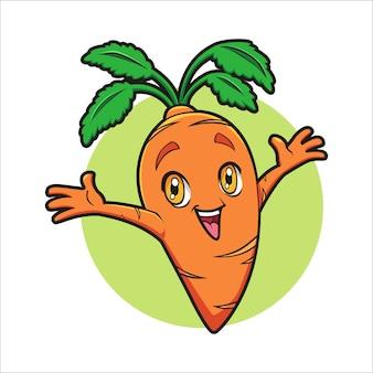 Dibujos animados happy carot master