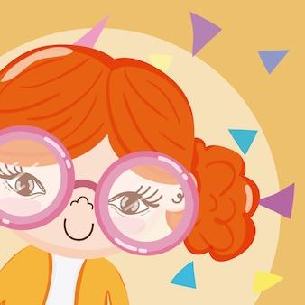 Dibujos animados hermosa chica
