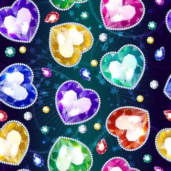 Dibujos animados hermosa joyería de patrones sin fisuras