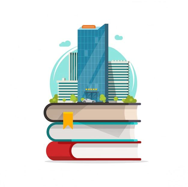 Dibujos animados de icono de concepto de ciudad inteligente