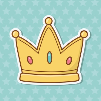 Dibujos animados icono de corona