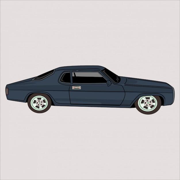 Dibujos animados ilustración coche clásico retro vintage coche