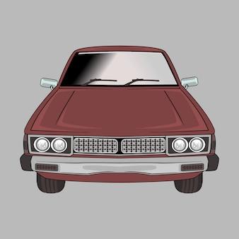 Dibujos animados ilustración coche retro, vintage, clásico