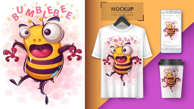 Dibujos animados ilustración de cuentas locas y merchandising