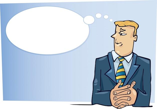 Dibujos animados de jefe de pensamiento