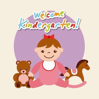 Dibujos animados de kinder garten