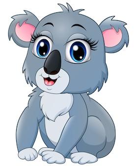 Dibujos animados de koala bastante divertido