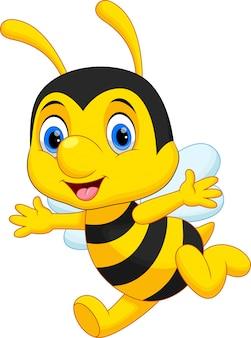 Dibujos animados lindo abeja