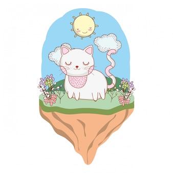 Dibujos animados lindo animal al aire libre