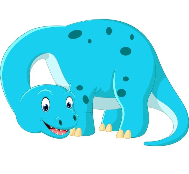 Dibujos animados lindo brontosaurio