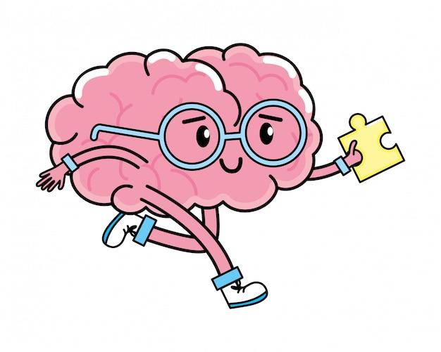 Dibujos animados lindo cerebro