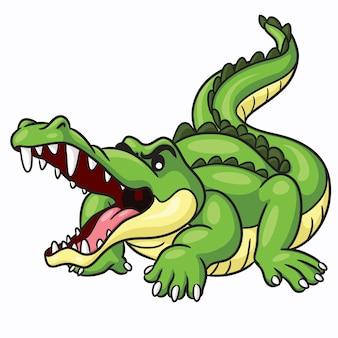 Dibujos animados lindo cocodrilo