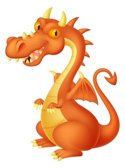 Dibujos animados lindo dragón