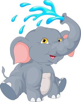 Dibujos animados lindo elefante
