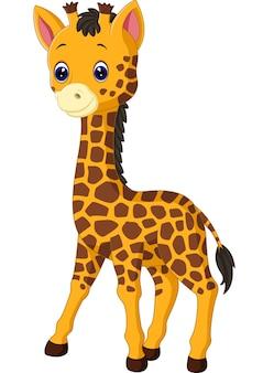Dibujos animados lindo jirafa