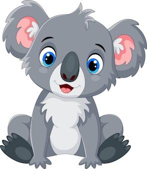 Dibujos animados lindo koala