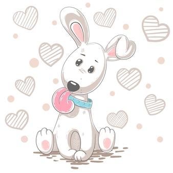 Dibujos animados lindo perro