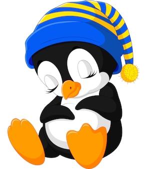 Dibujos animados lindo pingüino