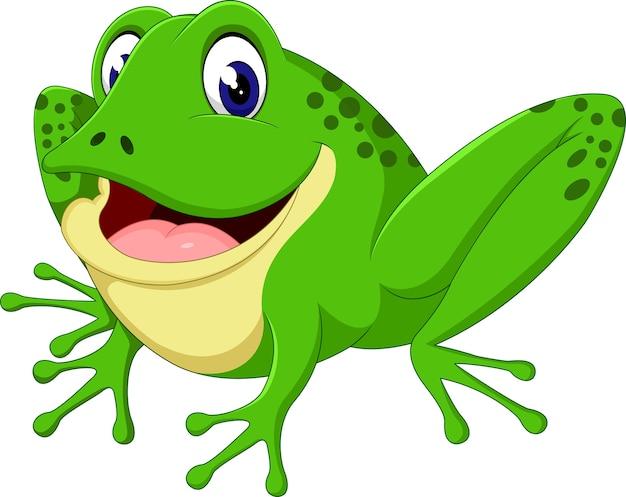 Dibujos animados lindo de la rana