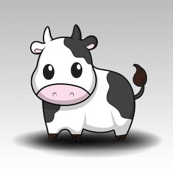 Dibujos animados lindo de la vaca