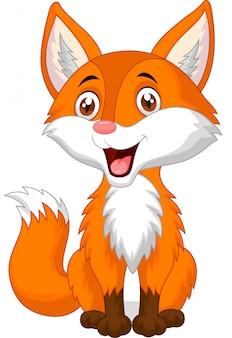 Dibujos animados lindo zorro