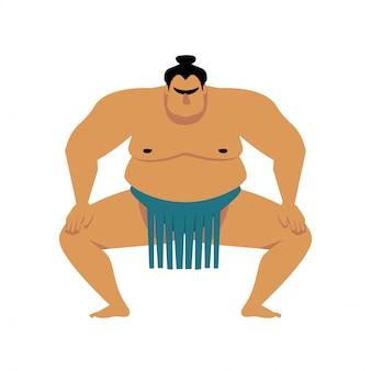 Dibujos animados de luchador de sumo